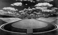 Looking south in 1940 from the north endonze of Bailey Stadium.