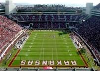Arkansas razorbacks football enter the razorback for Deck builders fayetteville ar