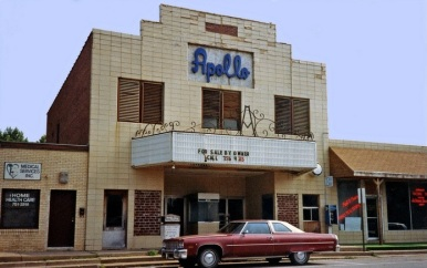 Springdale's Apollo Theater, 308 W. Emma Ave., as it looked in 1987. There are plans underway as of April 2015 to restore the venue.