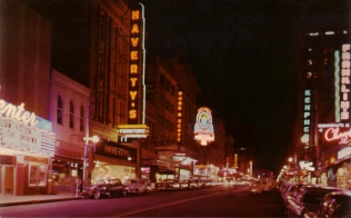 Another angle of the Center (far left) featuring a spectacular view of Main Street.