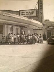 A view of the Heights Theater -- looking east on Kavanaugh -- in 1952.