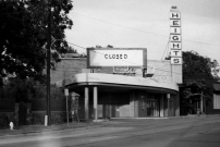 """The Heights Theater closed in September 1985. Its final film was """"The Last Picture Show."""" The building has since been remodeled and now houses a bank, botique and restaurant."""