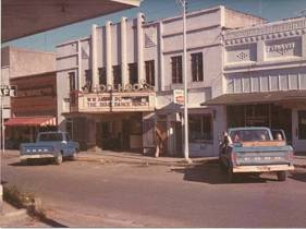 """Still in operation in 1975, the Hoo-Hoo appears to have been playing """"The Dixie Dance Kings"""" that day, per the marquee."""