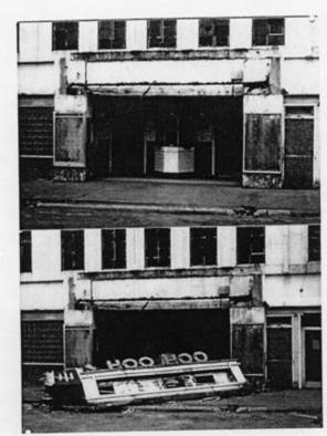 An undated photo of the Hoo-Hoo shows the theater had seen better days.