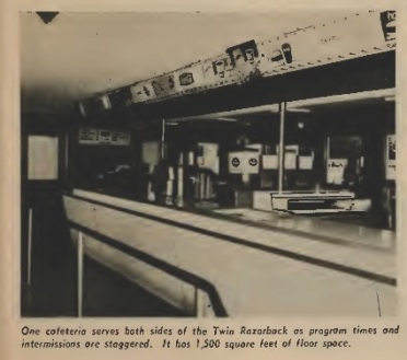 The Razorback's concession stand served both sides of the drive-in, and featured a robust 1,500 square feet of floor space.