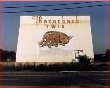 A weathered screen of the Razorback Twin sometime in the mid 1970s.