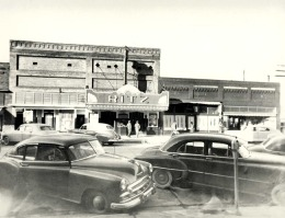 The Ritz Theater, 306 W. Main St, Blytheville, as it looked in the 1950s. The theater was renovated in 2004, closed in 2008, but was recently reopened.