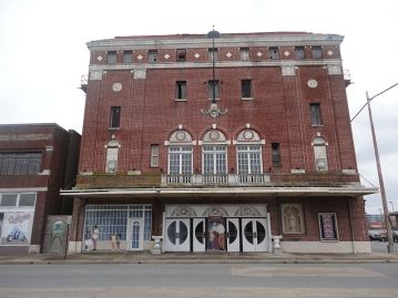 """Nicknamed the """"Showplace of the South,"""" the Saenger sat about 1,500 viewers. Inside was a balcony, marble floors, a large balcony and a chandelier comprised of crystal. Restoration efforts in the mid 1990s failed to generate interest in reopening the theater full-time."""