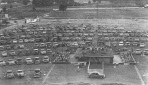 Paragould's Sunset Drive-In circa 1956. The crowd was gathered not for a movie, but to see Gov. Orval Faubus-D, who was in the first term of his 12-year reign (1954-1966).