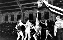 The Razorbacks won their first game in the new field house, beating Drake 31-22 on Dec. 14, 1936 in the season opener. But the building wasn't formally dedicated until Feb. 4, 1938, when Arkansas walloped TCU 53-26. The program was on the upswing, but bigger milestones still lay ahead.