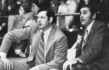 Lanny Van Eman, left, accepted the head coaching job at Arkansas in time for the 1970-71 season. Van Eman was a former college star at Wichita State and a disciple of Hall of Fame coach Ralph Miller. Often overlooked in the annals of Razorbacks basketball history, Van Eman deserves credit for resuscitating a fledgling program and re-igniting the fan base.