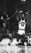 The Triplets, sometimes called the called The Basketeers (a la The Three Musketeers) consisted of Marvin Delph, Sidney Moncrief and Ron Brewer, pictured above. The trio of Arkansas natives -- all 6-4 -- helped revamp Razorbacks basketball.