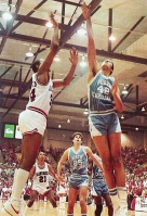 Between 1982 and 1986, Arkansas played a bevy of national powerhouses: Ohio State, Wake Forest, Kansas, Villanova, Oklahoma, Virginia, and defending national champion Georgetown. Each game was a milestone for the program, but none matched the spectacle of Feb. 12, 1984, when Arkansas met Michael Jordan and No. 1 North Carolina in Pine Bluff.