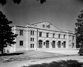 Arkansas opened a new fieldhouse ahead of the 1937 season. The building, located along Garland Avenue near Maple Street, was funded in part by a $307,000 federal loan from the Public Works Administration. The new fieldhouse was the Razorbacks' first modern basketball facility. It provided seating for 3,500 fans during basketball games and included space for athletic offices and classrooms for the physical education department.