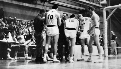 By the late 1950s, the Hogs were acclimated to their new gym, and coach Glen Rose had the program on the upswing. Arkansas was emerging from a three-year slump and had risen in the SWC standings each year between 1953 and 1956.