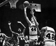 A new decade brought a new era of basketball to Arkansas. With the Triplets gone, the Hogs' success was built around Scott Hastings, a 6-10 center from Independence, Kan. Hastings was the Razorbacks' first elite big man since Dean Tolson. Only a sophomore in 1980, Hastings earned All-SWC honors by leading the team in scoring and rebounding.