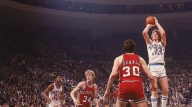 The Hogs were a No. 2 seed in the 1979 NCAA Tournament. They rolled passed Weber State and Louisville to set up a top-five showdown against Larry Bird and No. 1 Indiana State. The game was close early on and Arkansas held a two-point lead at the half. Bird, who had been scoring at will, was limited to just four points after Moncrief switched to him. In the waning minutes, Arkansas' U.S. Reed was called for traveling — Hogs fans argue he was tripped — and Indiana State's Bob Heaton hit a last-second shot to propel the Sycamores to the Final Four.