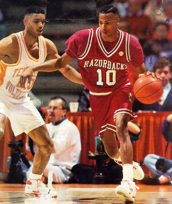 Arkansas made a seamless transition to the SEC. Loaded with talented upperclassmen, the Hogs rolled through conference play to capture the SEC regular-season title in their inaugural season. Other highlights from 1991-92 season included a 105-88 shellacking of No. 8 Kentucky at Rupp Arena and sweeping the season series against Shaquille O'Neal and LSU.