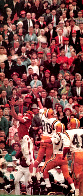 LSU's 14-7 upset over No. 2 Arkansas in the 1966 Cotton Bowl kept the Hogs from winning consecutive national titles.
