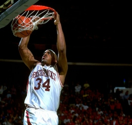 Against the Arizona Wildcats, Williams reemerged with a game-high 29 points and 13 rebounds. Meanwhile, Arkansas' smothering defense held Damon Stoudamire to 16 points on 5 of 24 shooting. Clint McDaniel added 12 points and five rebounds off the bench for the Hogs as Arkansas reached its first national title game.