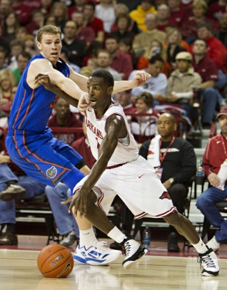 The 2011-12 seaosn was pretty much a preordained wash, but Arkansas eked out a respectable 18 wins -- including 6 in conference play. Still, there were some growing pains, like a 30-point loss at home to No. 14 Florida. It stands as the Razorbacks' most lopsided defeat in Bud Walton Arena.