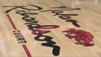 Nolan Richardson was honored before the 2020 season when the court inside Bud Walton Arena was renamed in his honor. His signature graces the hardwood and is accompanied by the famed slobbering hog — en emblem fans had been mourning since its removal from center-court in 2010.