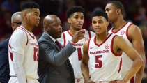 A road win against Providence in the opening round of the NIT couldn't salvage Mike Anderson's job. He was fired three days after the Hogs lost to Indiana in the next round. Under Anderson, the Hogs had fleeting returns to glory — including a 27-win season in 2015 — but fans were deflated after eight seasons with only three trips to the NCAA Tournament.